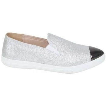 Chaussures Femme Slips on Kebello Baskets 80126 argent
