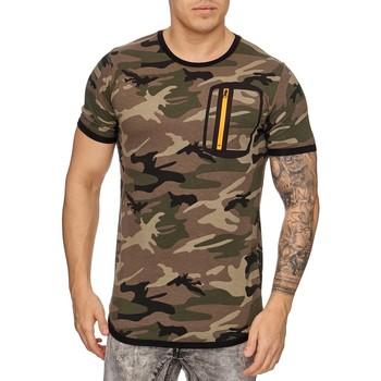 Vêtements Homme T-shirts manches courtes Cabin T shirt fashion camouflage militaire T shirt camo 881 vert Vert