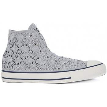 Chaussures Baskets montantes Converse ALL STAR HI  CROCHET Argento