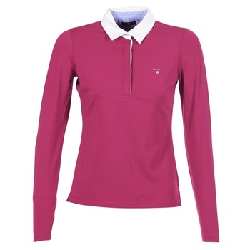 Vêtements Femme Polos manches longues Gant SOLID JERSEY LS RUGGER Rose