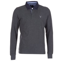 Vêtements Homme Polos manches longues Gant THE ORIGINAL HEAVY RUGGER Gris