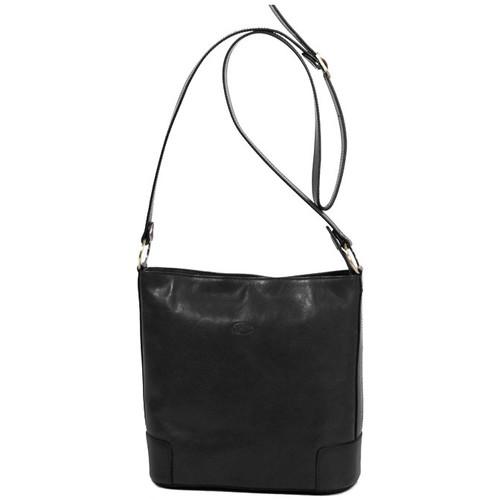 Sacs Femme Besaces Katana Besace en cuir de Vachette collet K 82596 Noir