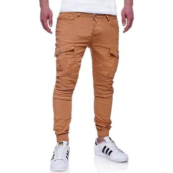 Vêtements Homme Pantalons cargo Monsieurmode Jogg jeans cargo homme Jeans 90 marron Marron