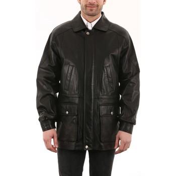Vêtements Homme Vestes en cuir / synthétiques Intuitions Paris AH 09-50 Noir Noir