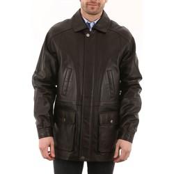 Vêtements Homme Vestes en cuir / synthétiques Intuitions Paris AH 09-50 Marron Marron