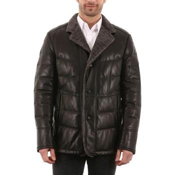Vêtements Homme Vestes en cuir / synthétiques Intuitions Paris AH 20-16-645 Noir Noir