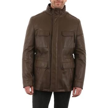 Vêtements Homme Vestes en cuir / synthétiques Intuitions Paris AH 20-16-648 Mastic Marron