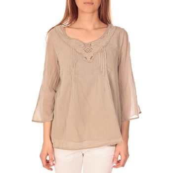 Vêtements Femme Tops / Blouses Vision De Reve vision de rêve tunique 9005 Taupe Gris