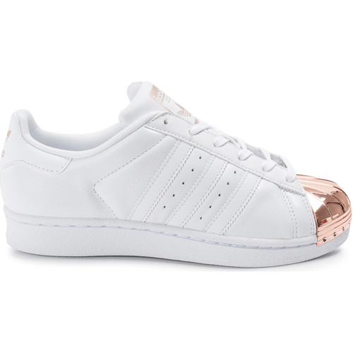 adidas Originals Superstar 80s Metal Toe he Blanc - Chaussures Baskets basses Femme