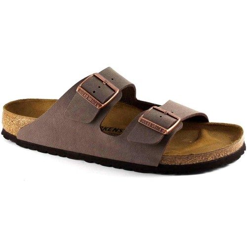 Chaussures Homme Mules Birkenstock ARIZONA 151183 moka pantoufles marron homme boucles Marrone