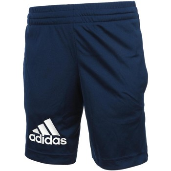 Vêtements Garçon Shorts / Bermudas adidas Originals Gu kn navy short jr Bleu marine / bleu nuit