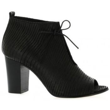 Chaussures Femme Boots Pao Boots cuir serpent Noir