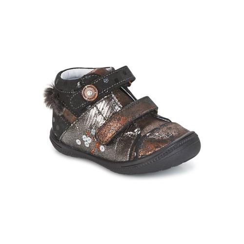 Chaussures Fille Boots Catimini ROSSIGNOL Noir / Cuivre