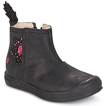 Chaussures Fille Boots GBB ROMANE Noir