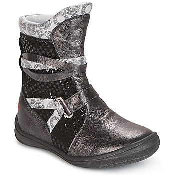 Chaussures Fille Boots GBB ROSANA Gris