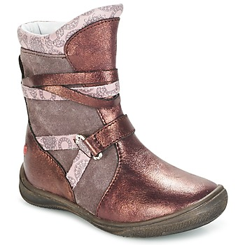 Chaussures Fille Boots GBB ROSANA Rose / Bordeaux