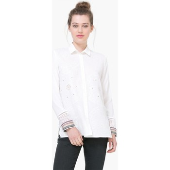 Vêtements Femme Tuniques Desigual Chemise Laia Blanc 74C2WA5 1