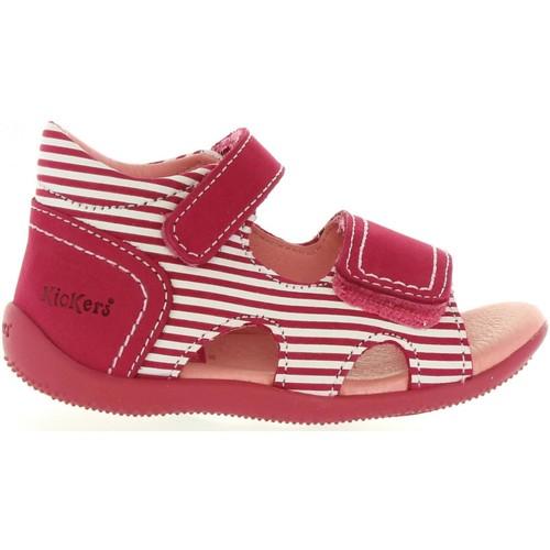 Chaussures Enfant Sandales et Nu-pieds Kickers 469520-11 BI SEA Rojo