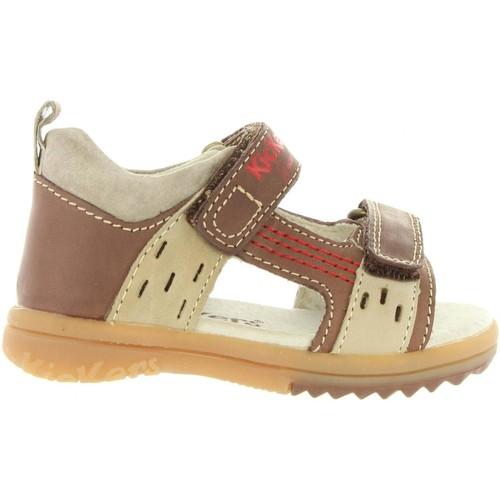 Chaussures Garçon Sandales et Nu-pieds Kickers 414741-10 PLAZABI Marrón