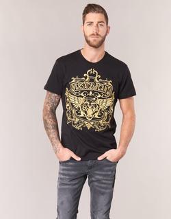 Vêtements Homme T-shirts manches courtes Versace Jeans B3GQB7T2 Noir / Or