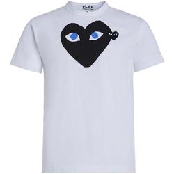 Vêtements Homme T-shirts manches courtes Comme Des Garcons T-shirt Play by Comme des Garçons blanche avec cœur noir Blanc