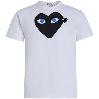 Vêtements Homme T-shirts manches courtes sages femmes en Afriques T-shirt Play by Comme des Garçons blanche avec cœur noir Blanc
