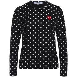 Vêtements Femme T-shirts manches longues Comme Des Garcons T-shirt  Play by Comme des Garçons noire avec pois blancs Noir