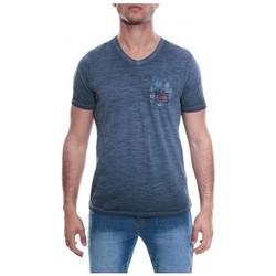 Vêtements Homme T-shirts & Polos Ritchie T-SHIRT V MAGIC Bleu