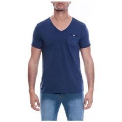 Vêtements Homme T-shirts & Polos Ritchie T-SHIRT V MANVILLE Bleu