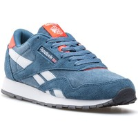 Chaussures Garçon Baskets basses Reebok Sport CL Nylon Washed Junior Bleu