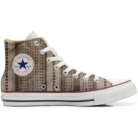 Chaussures Baskets montantes Converse All Star Blanc-Marron