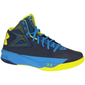 Under Armour Rocket Basketball Bleu-Jaune - Chaussures Basket montante Homme