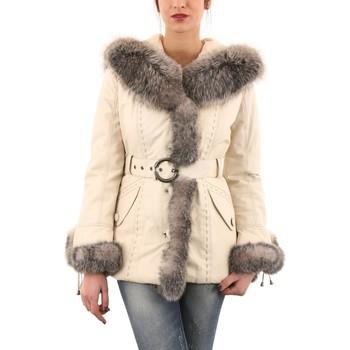 Vêtements Femme Vestes en cuir / synthétiques Giorgio Loren Blanc Blanc