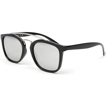 Montres & Bijoux Homme Lunettes de soleil Eye Wear Lunettes de soleil miroir tendance Pravka Noir