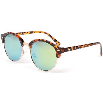 Montres & Bijoux Homme Lunettes de soleil Eye Wear Lunettes de soleil retro miroir doré Brody Marron