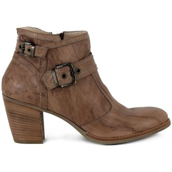 Chaussures Femme Bottines Nero Giardini Rodeo Tronchetto Beige-Marron