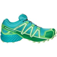 Chaussures Baskets basses Salomon Speedcross 4 Gtx W Vert-Bleu
