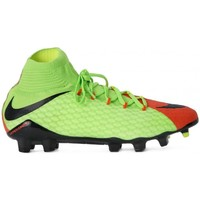 Chaussures Homme Football Nike Hypervenom Phatal II DF FG Vert-Orange