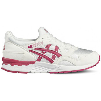 Chaussures Fille Baskets basses Asics Gel Lyte 5 Junior - Ref. C541N-0119 Blanc