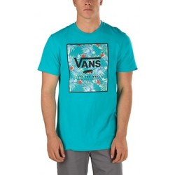 Vêtements Homme T-shirts & Polos Vans Tee-shirt  Print Box Teal Baltic Decay Palm Bleu
