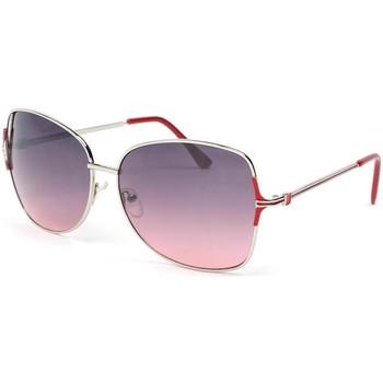 Montres & Bijoux Femme Lunettes de soleil Eye Wear Lunettes de soleil femme grise et rouge Babe Rouge