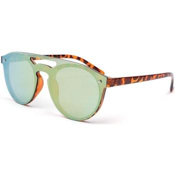 Montres & Bijoux Homme Lunettes de soleil Eye Wear Lunettes de soleil fashion marron et dore Eycal Marron