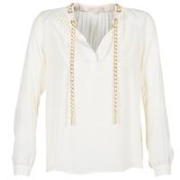 Vêtements Femme Tops / Blouses MICHAEL Michael Kors SLIT L/S CHAIN Crème