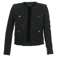 Vêtements Femme Vestes / Blazers MICHAEL Michael Kors FRAY TWD 4PKT JKT Noir / Argenté