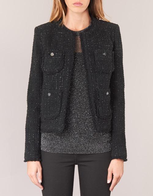FRAY TWD 4PKT JKT  MICHAEL Michael Kors  vestes / blazers  femme  noir / argenté