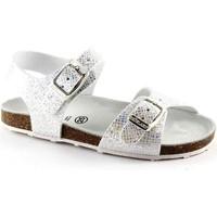 Chaussures Enfant Sandales et Nu-pieds Grunland Grünland AFRE SB0812 20/28 bébé blanc boucles d'argent de santal Argento