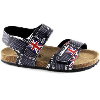 Chaussures Enfant Sandales et Nu-pieds Grunland Grünland AFRE SB0815 19/25 sandales bébé bleu fantaisie larme Bi Blu