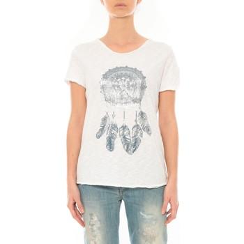 Vêtements Femme T-shirts manches courtes By La Vitrine Tee Shirt Blanc Cake V Blanc