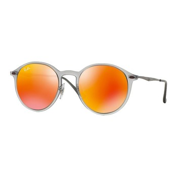Montres & Bijoux Lunettes de soleil Ray-ban Round Light Ray Gris Mat Brun Miroité Orange RB4224 650/6Q 49 Orange
