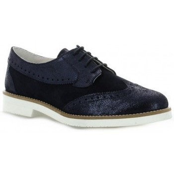 Chaussures Femme Derbies So Send Derby cuir laminé Marine